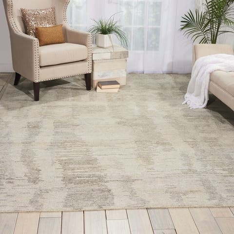 Nourison Ellora Contemporary Modern Abstract Linear Wool Area Rug