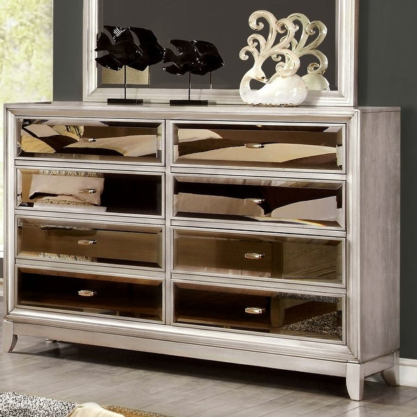 Furniture of America Welker Contemporary Silver 8-drawer Dresser. Opens flyout.
