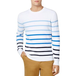 Tommy Hilfiger Mens Sweater Striped Long Sleeves - XL