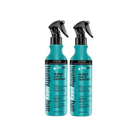 Sexy Hair Tri-Wheat Leave In Conditioner 8.5 Ounce (Pack Of 2)