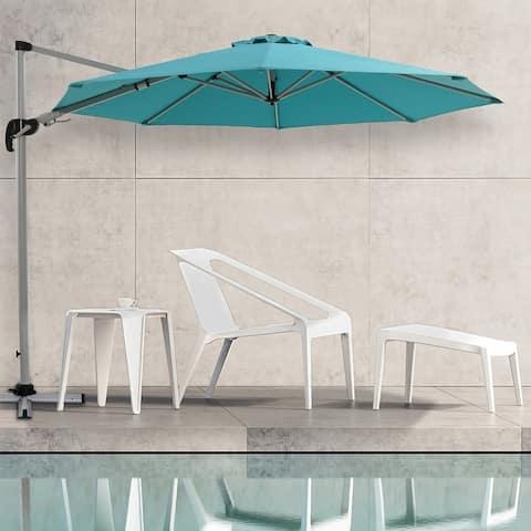 9.8 Ft Square Hanging Umbrella