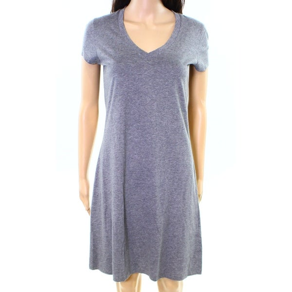 Lord Taylor New Gray Womens Size Xs V Neck Solid Gowns Sleepwear
