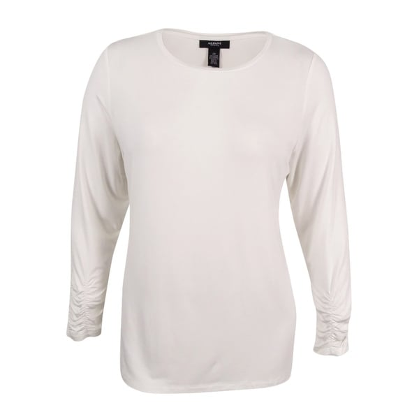 Shop Alfani Women s Plus Size Long-Sleeve Crew-Neck Top - Soft White - Free  Shipping On Orders Over  45 - Overstock - 17018987 471099b59