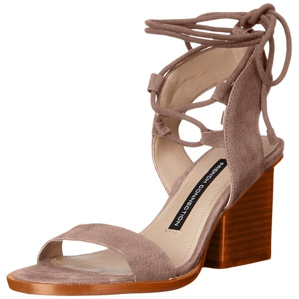 French Connection Womens Jalena Open Toe Casual Strappy Sandals