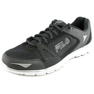 Fila Memory Synergy Men Round Toe Synthetic Black Sneakers
