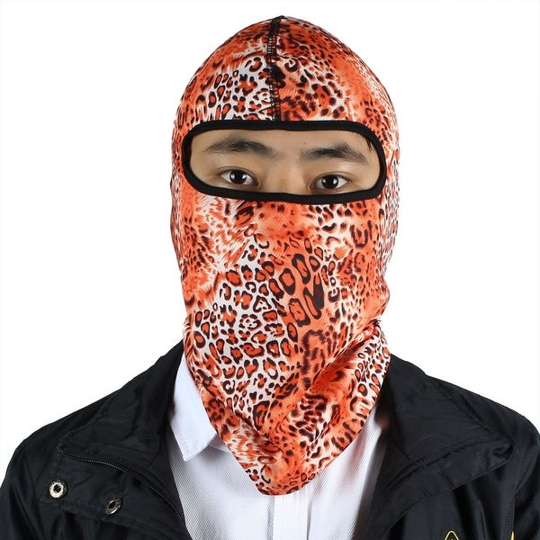 8c170d5f7ee Outdoor Lycra Camouflage Full Face Mask Balaclava Cycling Hood Hat Cap  Orange