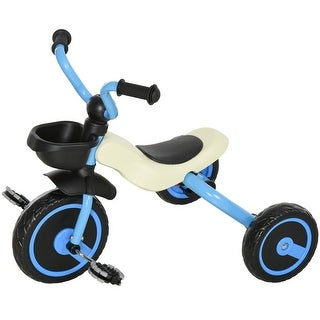 Link to Qaba Foldable Kids Ride on Bike Tricycle with a Timeless Classic Color Design & a Front Basket for Storage Similar Items in Dolls & Dollhouses
