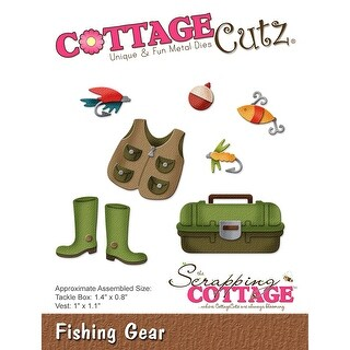 "Cottagecutz Die-Fishing Gear .8"" To 1.4"""