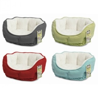 Animal PlanetA¢ 2301169 Brushed Plush Pet Bed, Assorted Colors, Small, 1-Qty