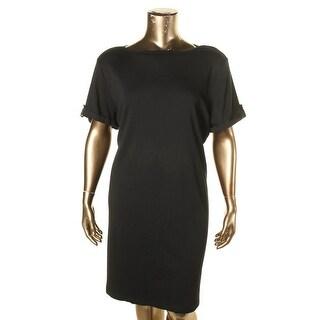 Karen Scott Womens Plus Shirtdress Knit Cotton - 3x