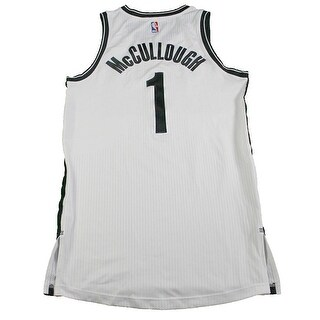 Chris McCullough Brooklyn Nets Game Used 1 White Jersey BKN02284 L