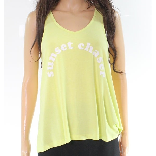 cedac54484d2a Shop Free Press Yellow Sunset Chaser Print Women's Small S Tank Cami Top -  On Sale - Free Shipping On Orders Over $45 - Overstock - 27885552