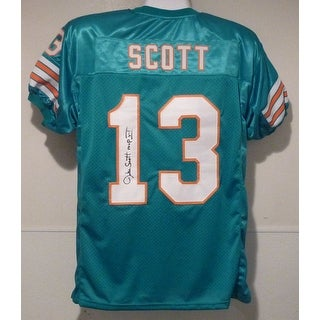 Jake Scott Autographed Miami Dolphins Teal Size XL Jersey wSB VI MVP