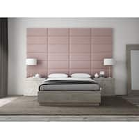 "VANT Upholstered Headboards - Accent Wall Panels - Packs Of 4 - PLUSH VELVET  Dusty Rose - 30"" Wide x 11.5"" Height"