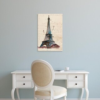 Easy Art Prints Melissa Wang's 'Letters from Eiffel' Premium Canvas Art