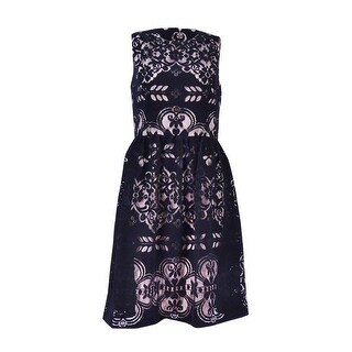 Tommy Hilfiger Women's Velvet Lace Fit & Flare Dress