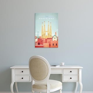 Easy Art Prints Henry Rivers's 'Barcelona' Premium Canvas Art