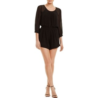 Twelfth St By Cynthia Vincent Womens Romper Chiffon Beaded