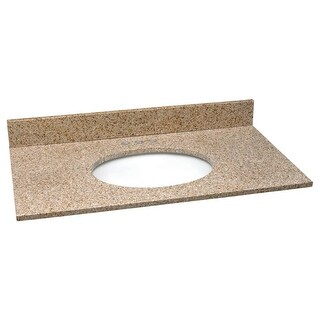 """Design House 552489 37"""" Vanity Top with Bowl from the Granite Collection"""