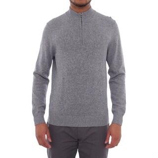 Perry Ellis Long Sleeve 1/2 Zip Turtleneck Pullover Men Sweater Top
