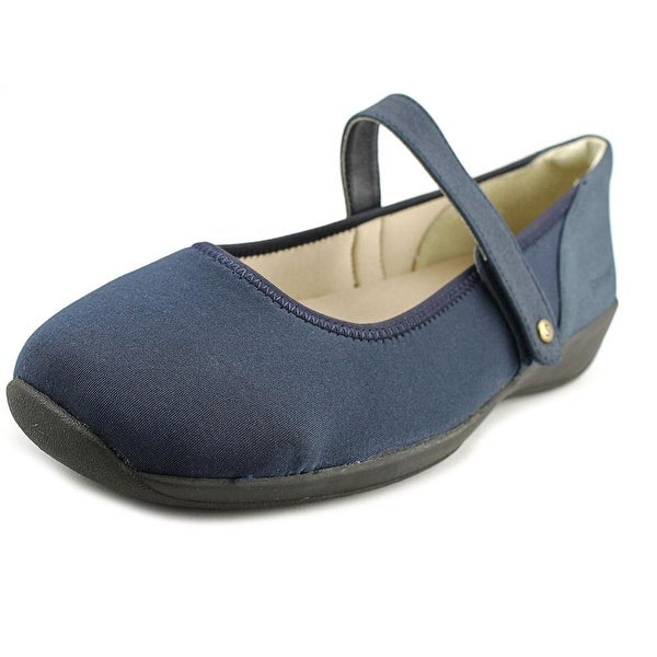 Stretchies Margaret II Women W Round Toe Synthetic Blue Mary Janes