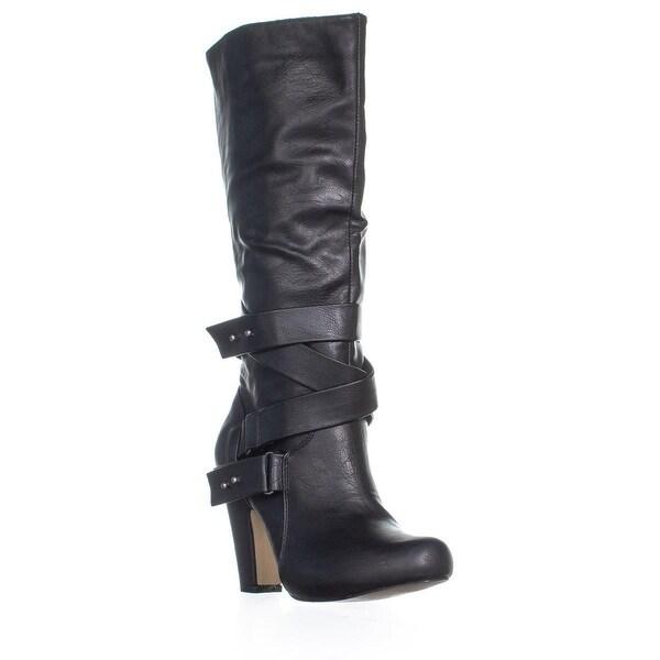 31884614a95 Shop madden girl Sargentt Zip Up Block Heel Boots, Black - Free ...