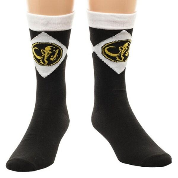 Mighty Morphin Power Rangers Men's Crew Socks Black
