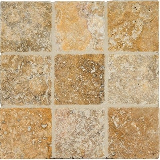 "MSI LPAVTPOR88T  Tuscany Porcini - 8"" x 8"" Square Floor Tile - Tumbled Visual - Sold by Carton (0.44 SF/Carton) - Beige"