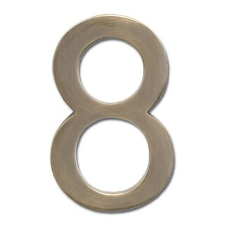 Architectural Mailboxes 3585-8 5 Inch Solid Cast Hand Finished Brass House Numbers