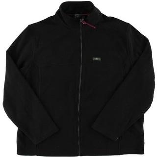 G.H. Bass & Co. Mens Full Zipper Mock Turtleneck Fleece Jacket