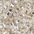 Czech Seed Beads 8/0 Silver Foil Lined Crystal (1 Ounce) - Thumbnail 0