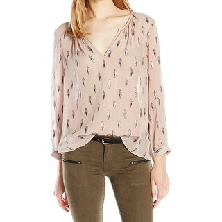Joie Dusty Mink Pink Womens Size Small S Mauro Jacquard Blouse