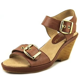 Bella Vita Jinny Women N/S Open Toe Leather Wedge Sandal
