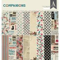 "Authentique Double-Sided Cardstock Pad 12""X12"" 24/Pkg-Companions, 8 Designs/3 Each"