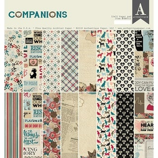 "Authentique Double-Sided Cardstock Pad 12""X12"" 24/Pkg-Companions, 8 Designs/3 Each"