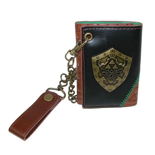 BioWorld Men's Nintendo Zelda Tri-Fold Chain Wallet - One size