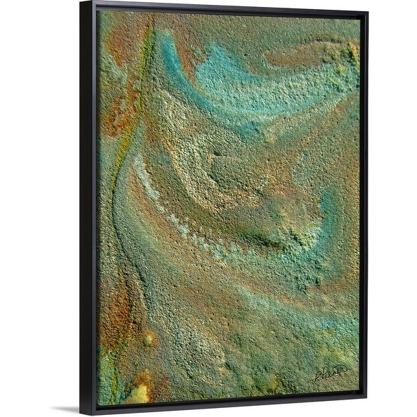 """Soda II"" Black Float Frame Canvas Art"