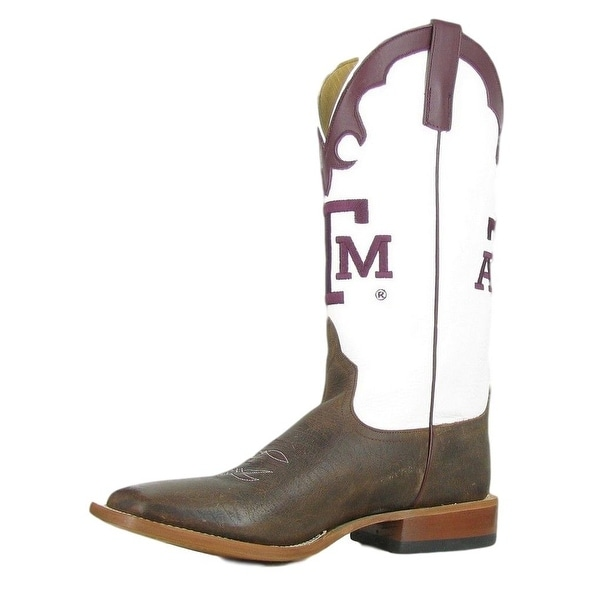 Horse Power Western Boots Tough Mens Leather Texas A&M Toast