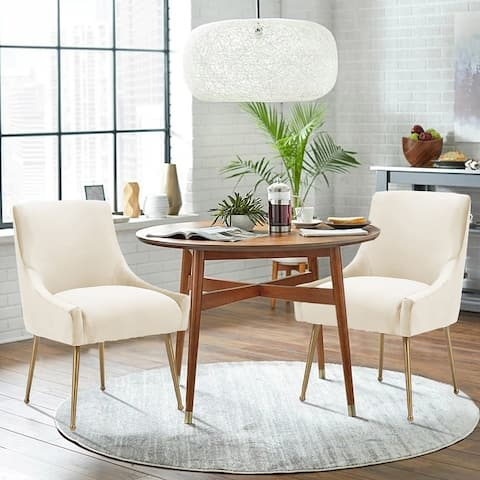 Classic Upholstered Accent Dining ChairSet of 2