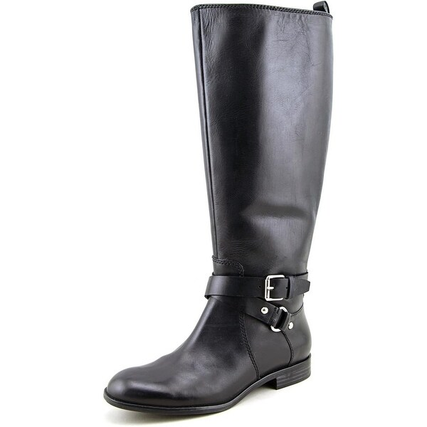 80688df5389f Enzo Angiolini Daniana Wide Calf Women Round Toe Leather Knee High Boot