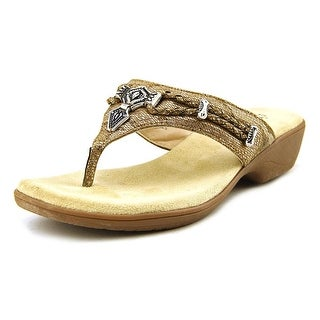 Rialto Kismet Women Open Toe Synthetic Gold Thong Sandal