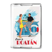 Cruise to Roatan - Vintage Advertisement (Acrylic Serving Tray)