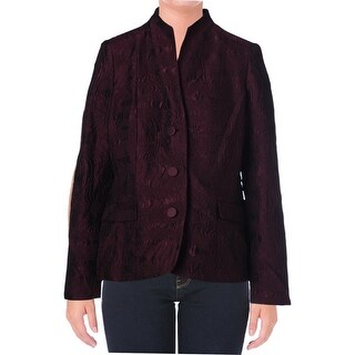 Lafayette 148 Womens Wool Blend Textured Three-Button Blazer - 10