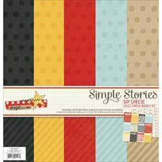 "Say Cheese - Simple Stories Simple Basics Kit 12""X12"""