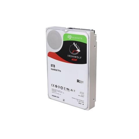 "Seagate IronWolf Pro ST8000NE0004 8TB 7200 RPM 256MB Cache SATA 6.0Gb/s 3.5"" Hard Drive"