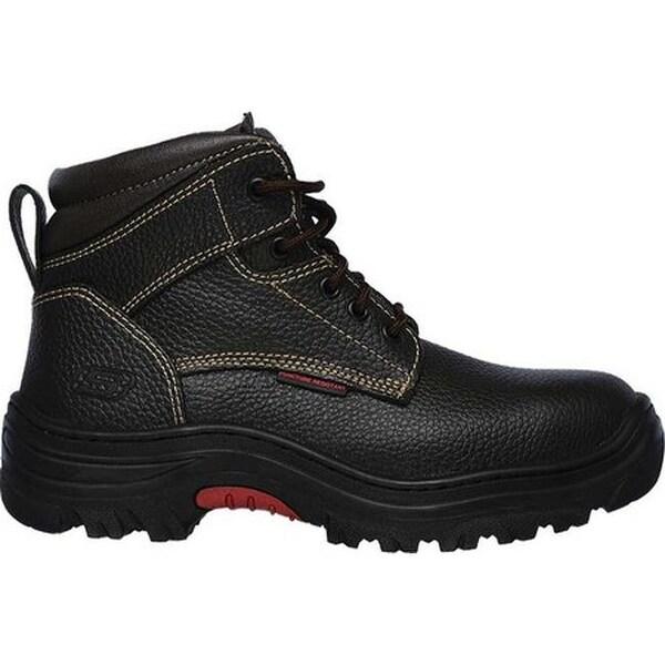 Shop Skechers Men's Work Burgin Tarlac Steel Toe Boot Brown