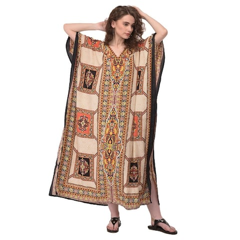Women Kaftan Hippy Boho Caftan Beach Cocktail Party Wear Evening Gown