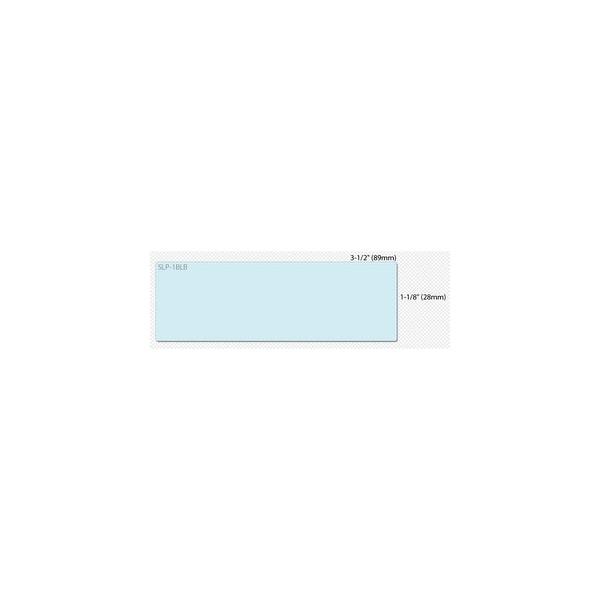 Seiko SLP-1BLB Seiko Address Label - 3.5 Inch Width x 1.12 Inch Length - 130/Roll - 1 / Box - Blue