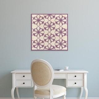 Easy Art Prints June Erica Vess's 'Floral Trellis VI' Premium Canvas Art