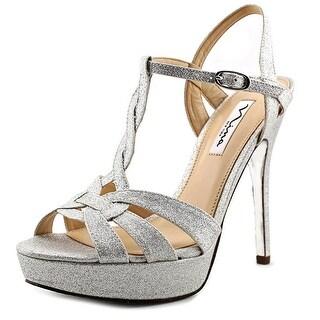 Nina Marzia Open Toe Canvas Platform Sandal